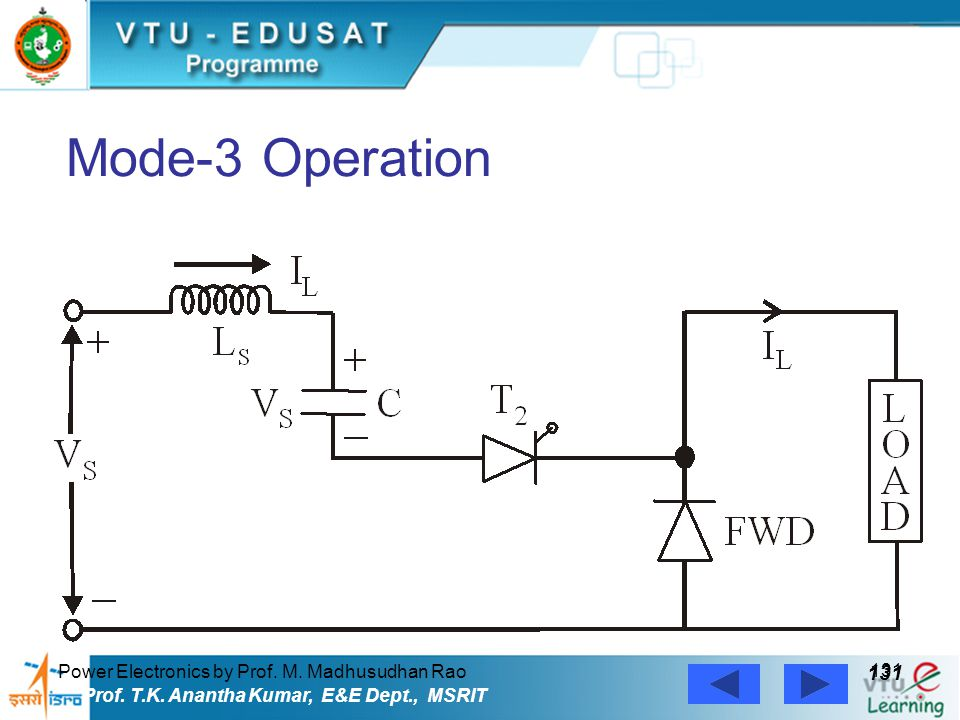 Mode-3 Operation 131 Power Electronics by Prof. M. Madhusudhan Rao