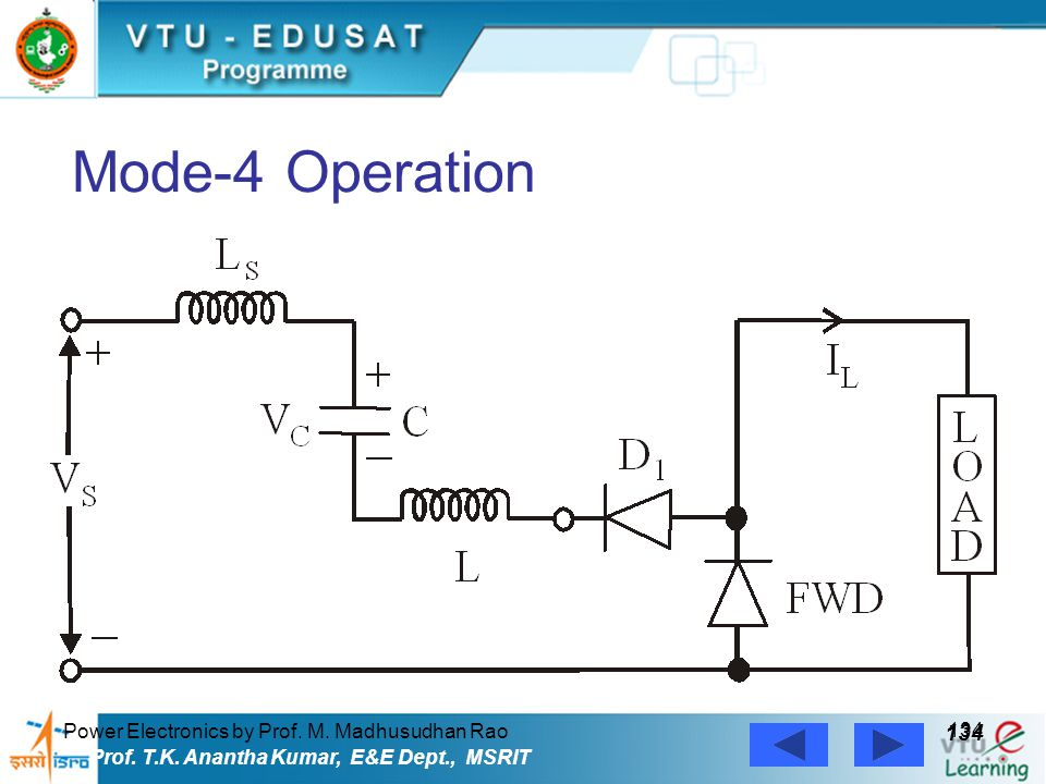 Mode-4 Operation 134 Power Electronics by Prof. M. Madhusudhan Rao