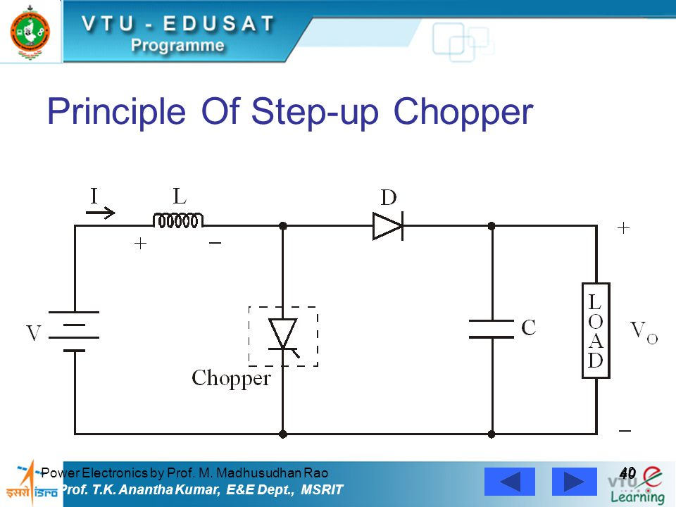 Principle Of Step-up Chopper