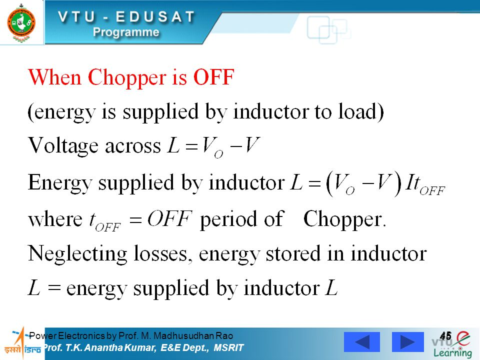 45 Power Electronics by Prof. M. Madhusudhan Rao