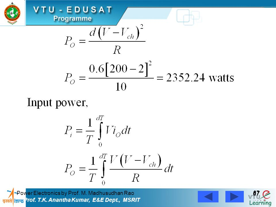 67 Power Electronics by Prof. M. Madhusudhan Rao