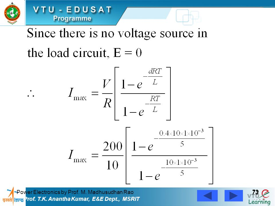 73 Power Electronics by Prof. M. Madhusudhan Rao