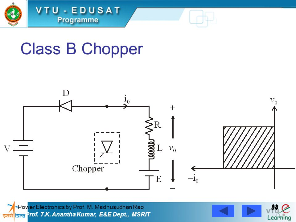 Class B Chopper 88 Power Electronics by Prof. M. Madhusudhan Rao