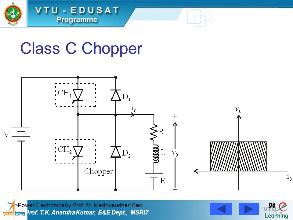 Class C Chopper 96 Power Electronics by Prof. M. Madhusudhan Rao