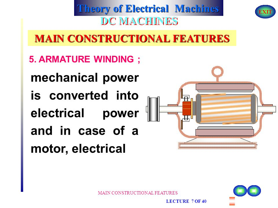 MAIN CONSTRUCTIONAL FEATURES
