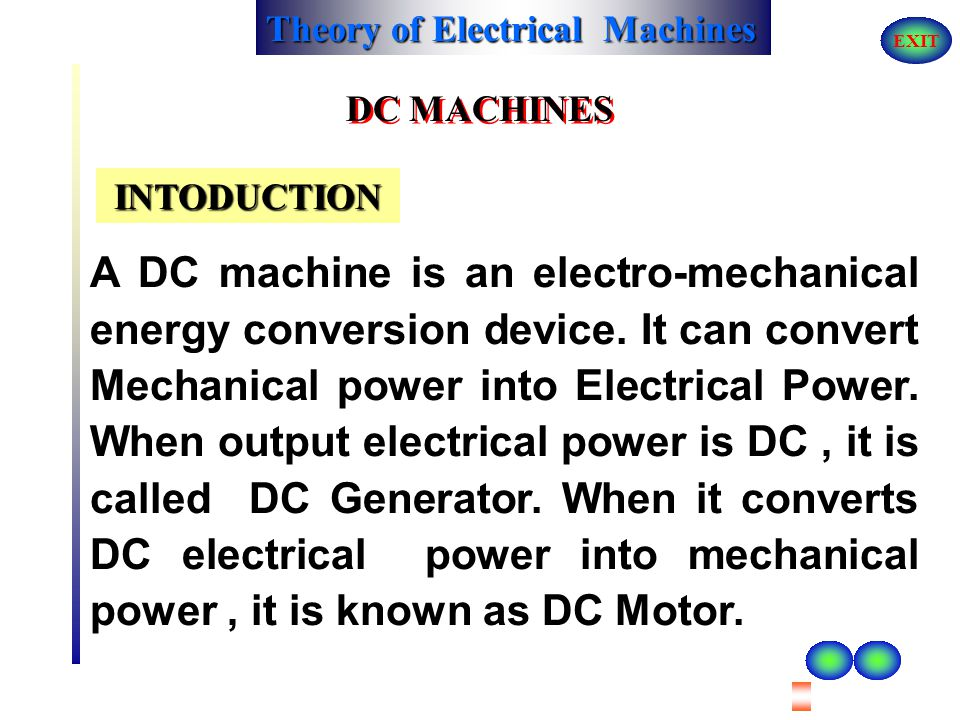 DC MACHINES INTODUCTION.