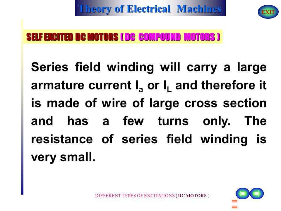 SELF EXCITED DC MOTORS ( DC COMPOUND MOTORS )