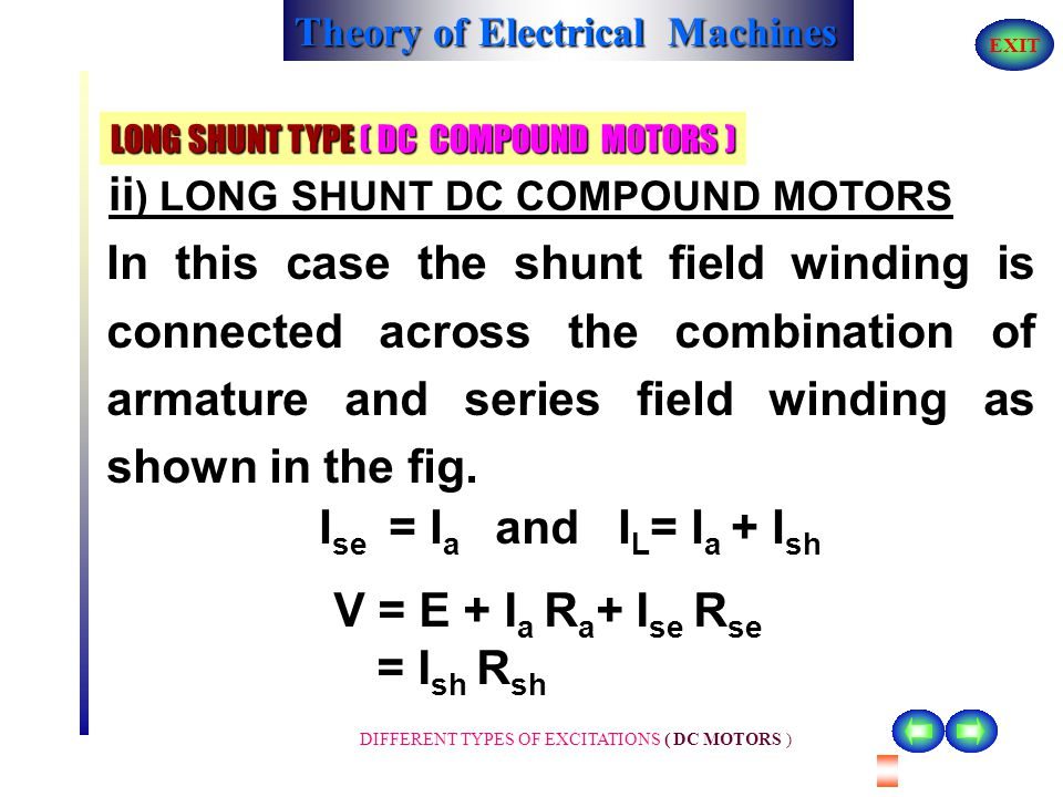 LONG SHUNT TYPE ( DC COMPOUND MOTORS )