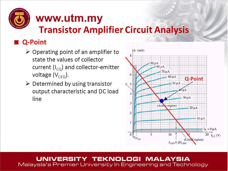 Transistor Amplifier Circuit Analysis