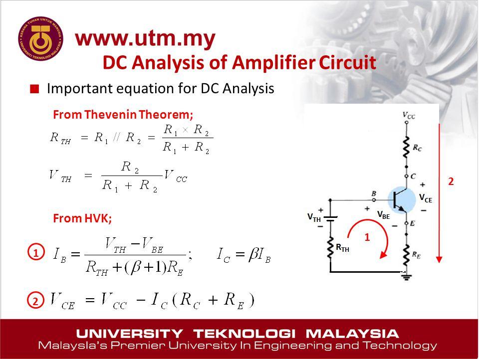 DC Analysis of Amplifier Circuit