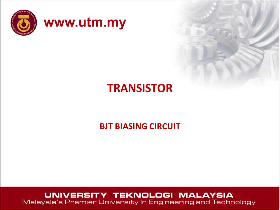 TRANSISTOR BJT BIASING CIRCUIT