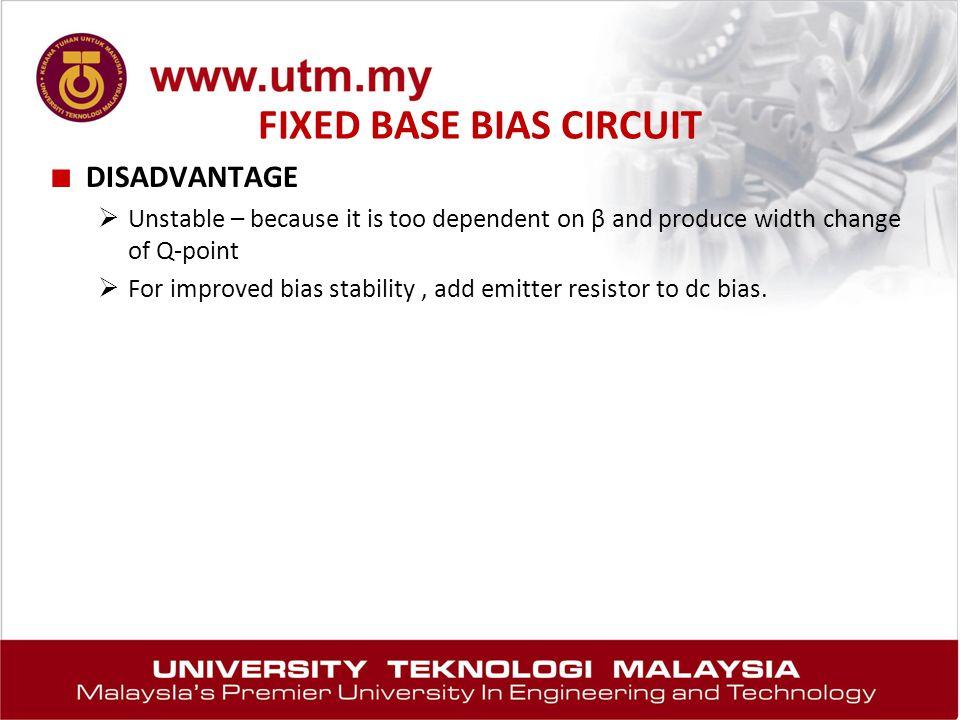 FIXED BASE BIAS CIRCUIT