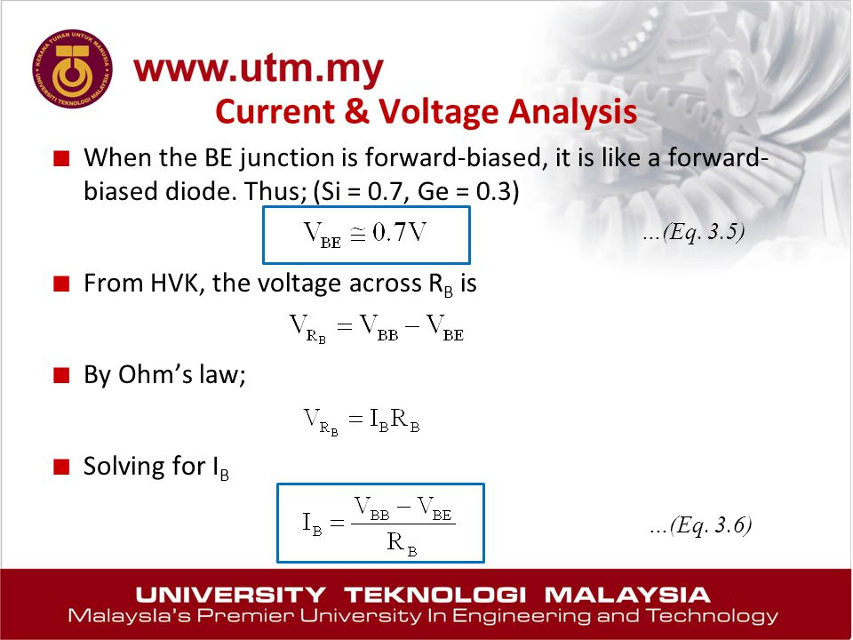 Current & Voltage Analysis