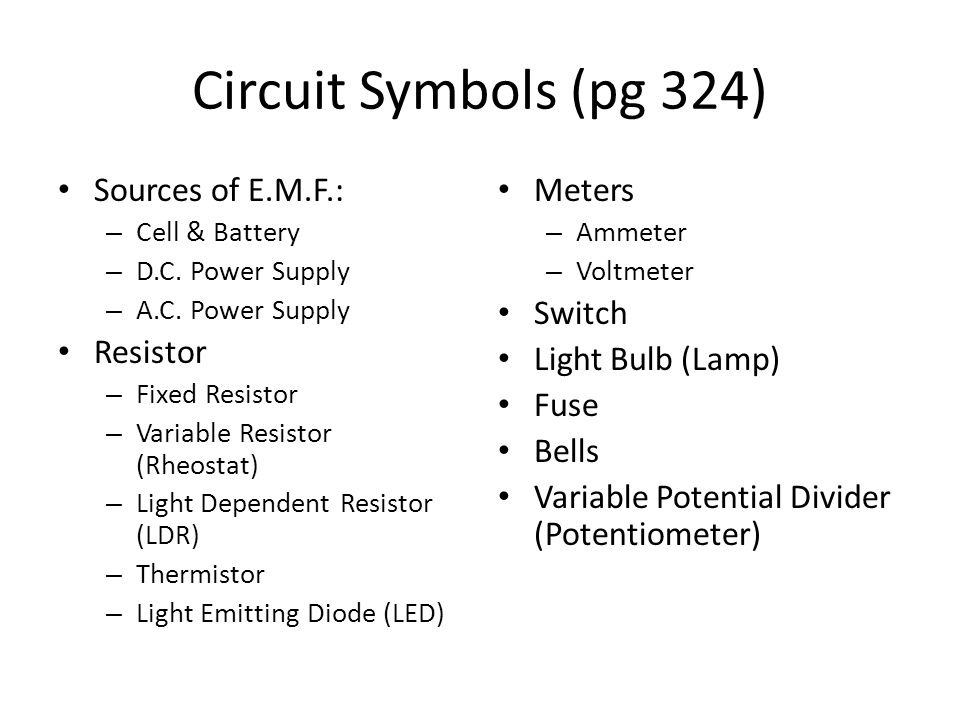 Outstanding Bulb Circuit Symbol Illustration - Schematic Diagram ...