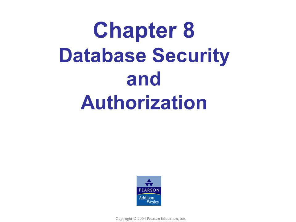 Chapter 8 Database Security and Authorization
