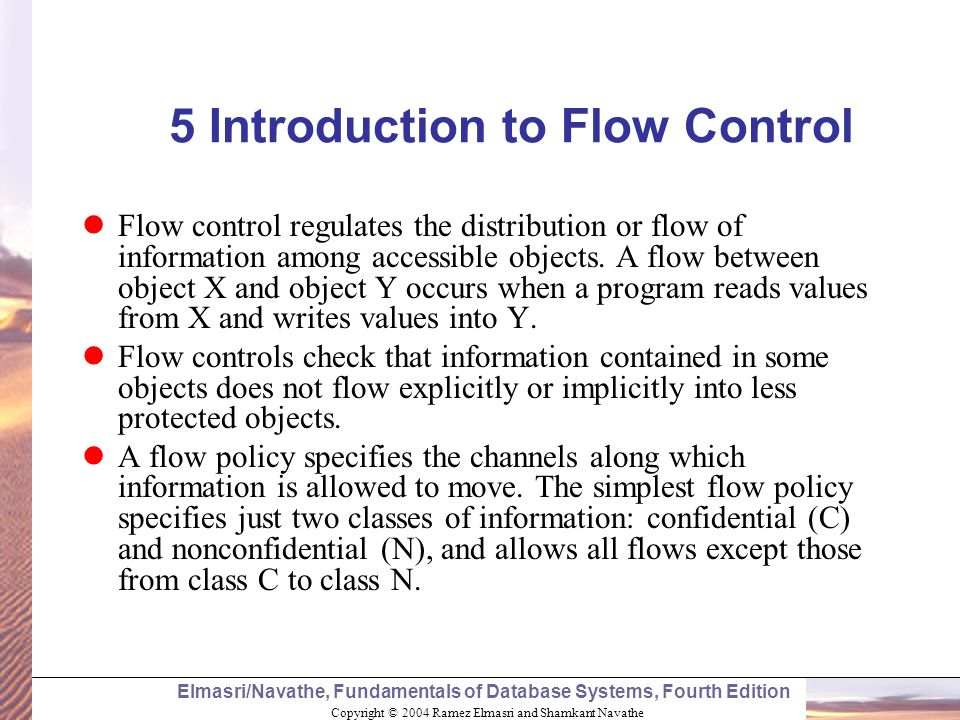 5 Introduction to Flow Control