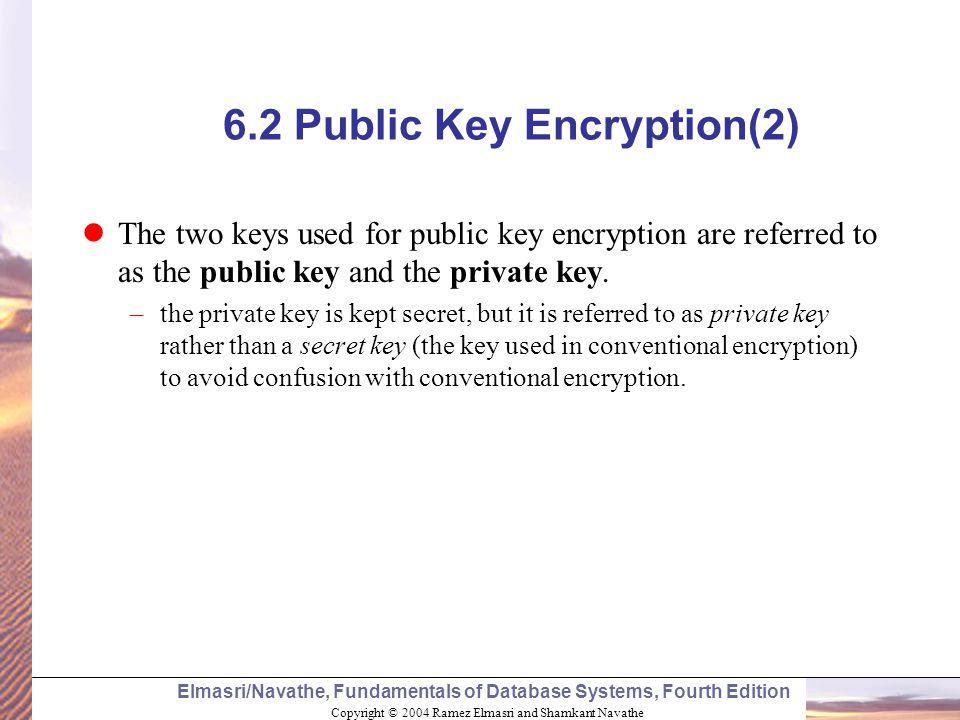 6.2 Public Key Encryption(2)