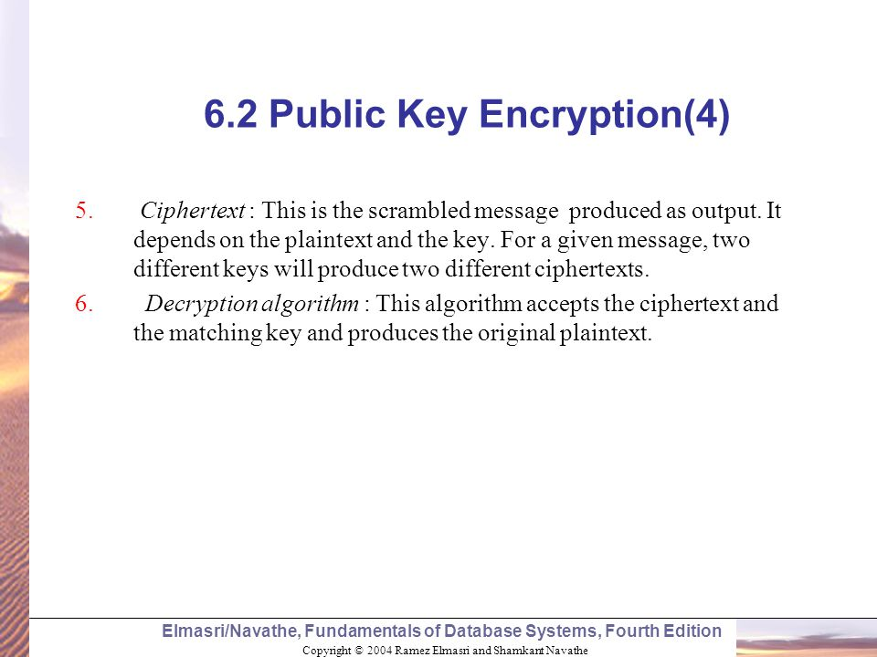6.2 Public Key Encryption(4)