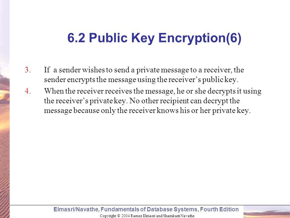 6.2 Public Key Encryption(6)