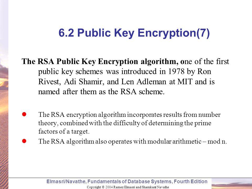 6.2 Public Key Encryption(7)