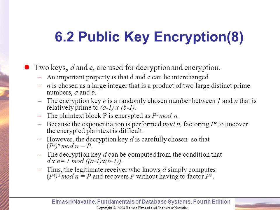 6.2 Public Key Encryption(8)