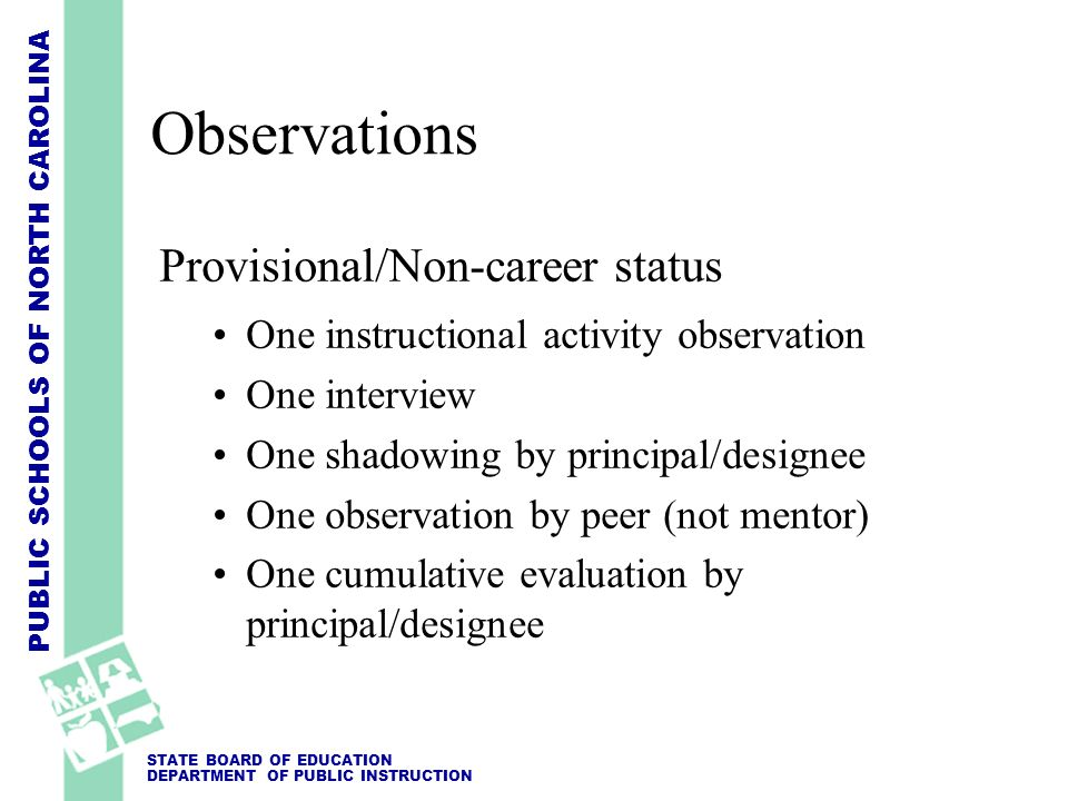 Observations Provisional/Non-career status