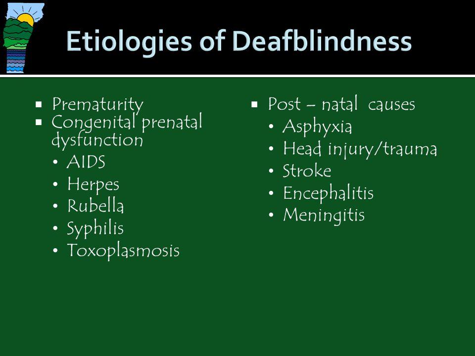 Etiologies of Deafblindness