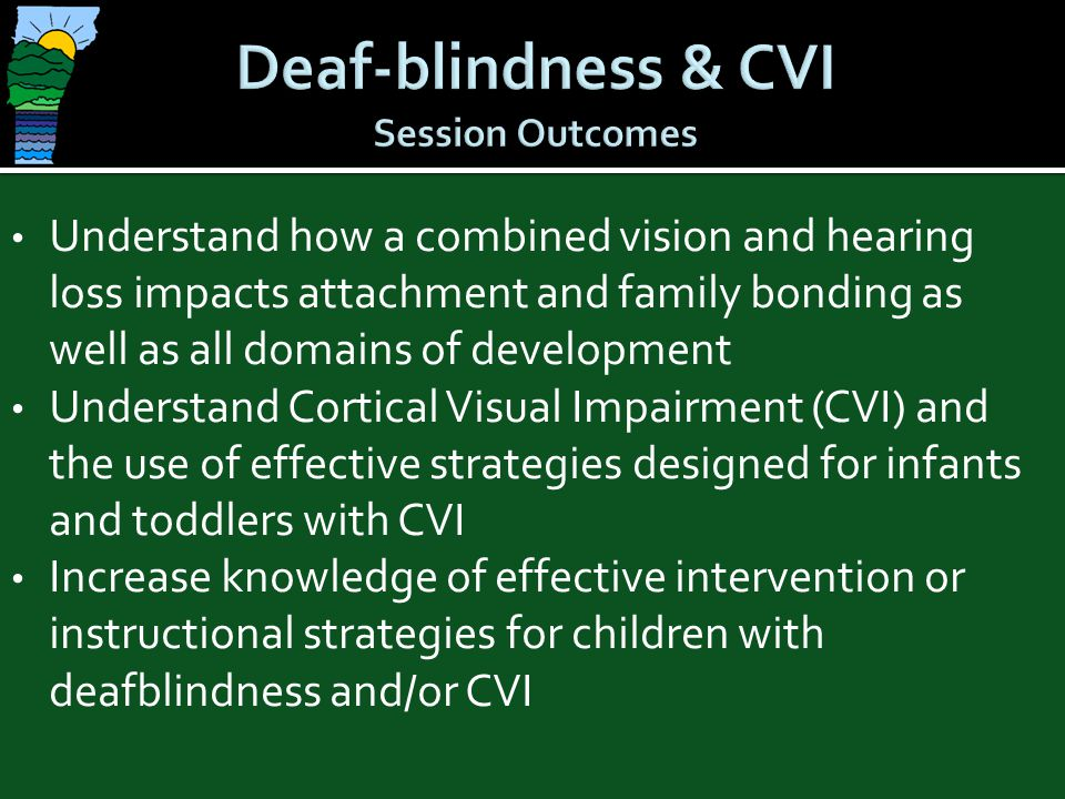 Deaf-blindness & CVI Session Outcomes