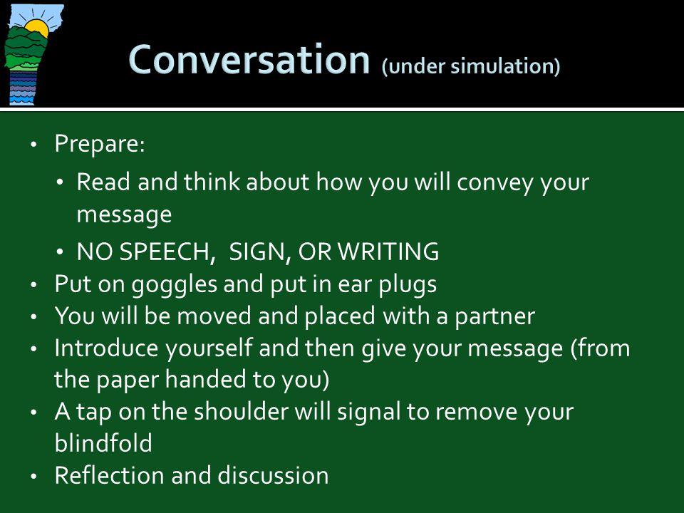 Conversation (under simulation)