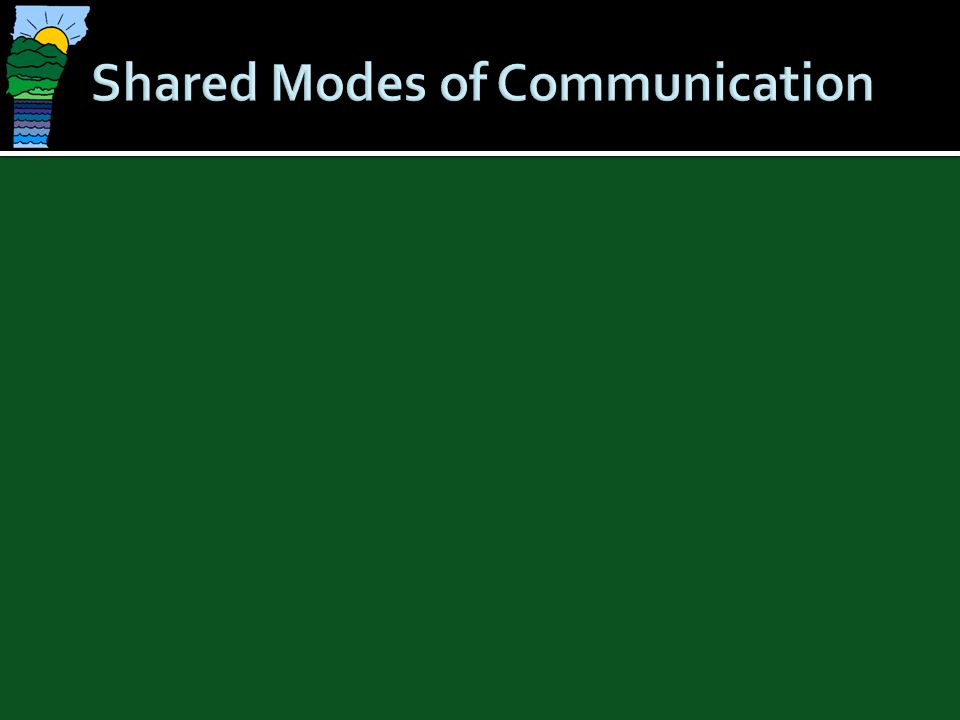 Shared Modes of Communication