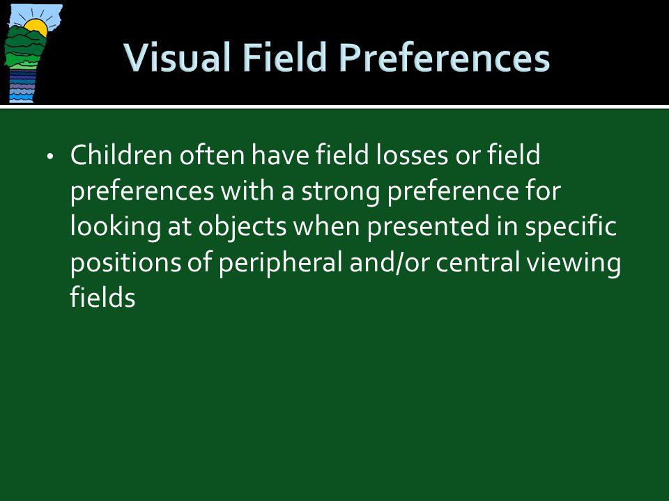 Visual Field Preferences