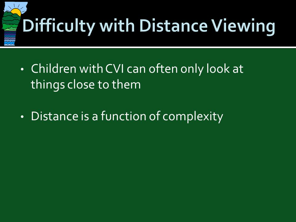 Difficulty with Distance Viewing