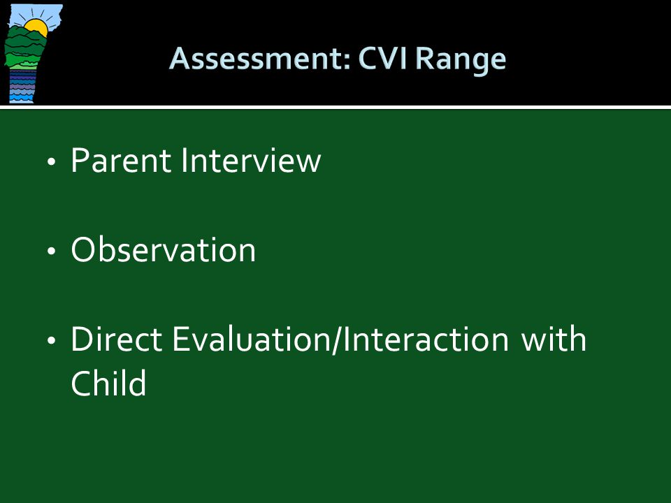 Direct Evaluation/Interaction with Child