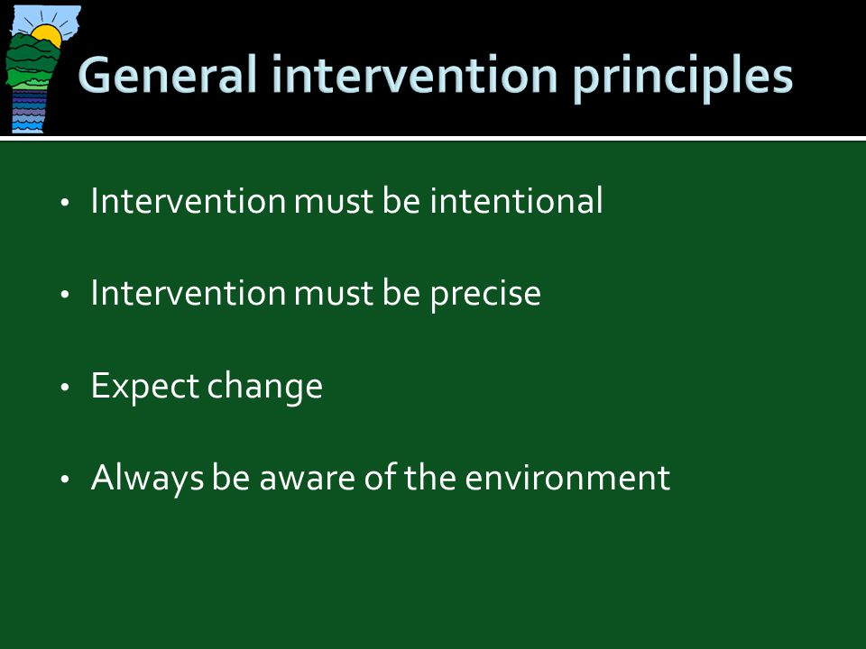 General intervention principles