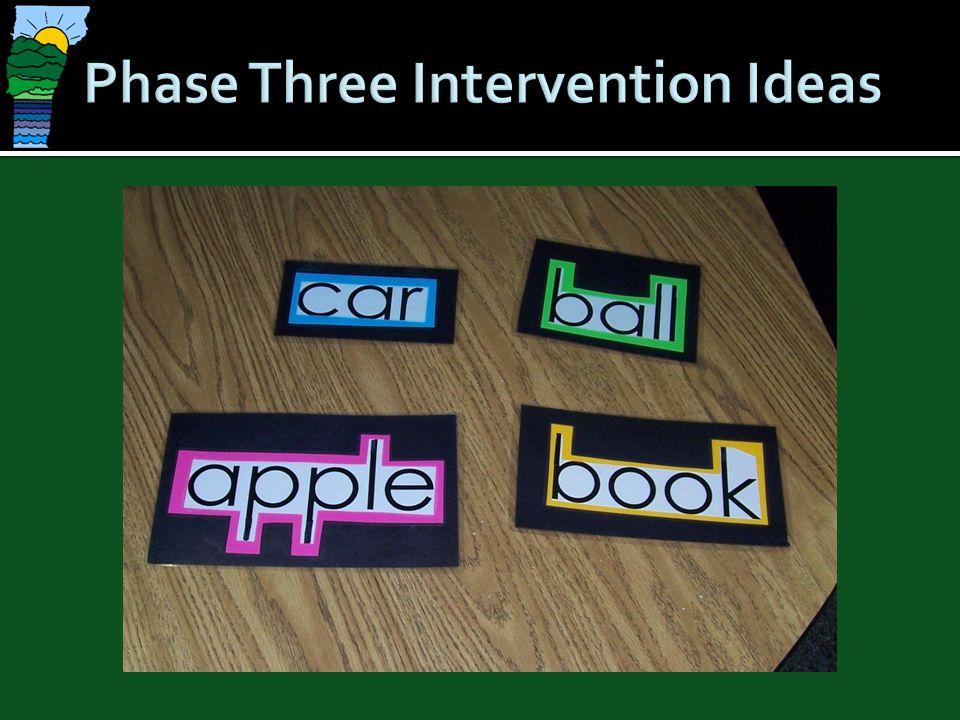 Phase Three Intervention Ideas
