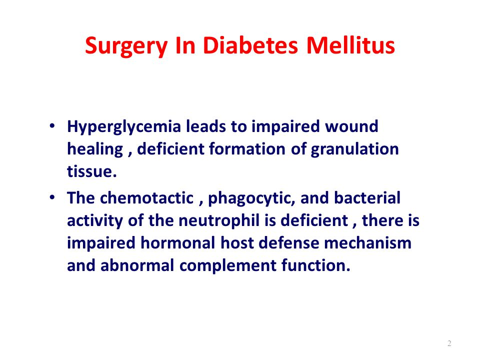 Surgery In Diabetes Mellitus