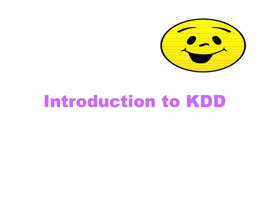 Introduction to KDD