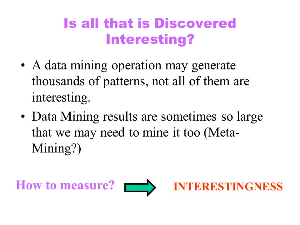 Is all that is Discovered Interesting