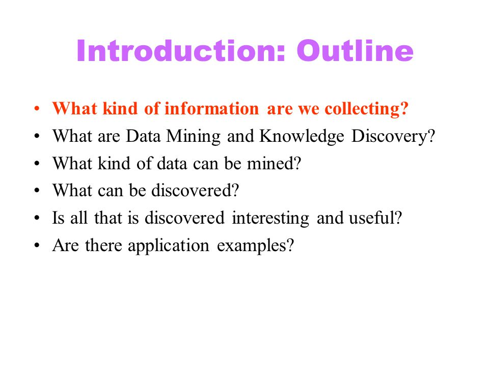 Introduction: Outline