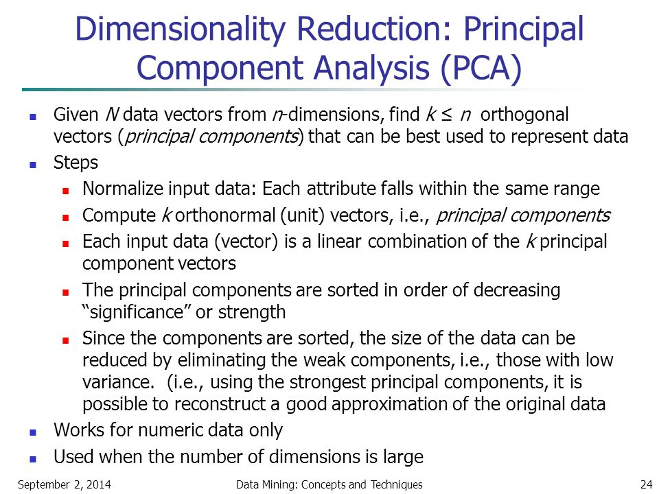 Dimensionality Reduction: Principal Component Analysis (PCA)