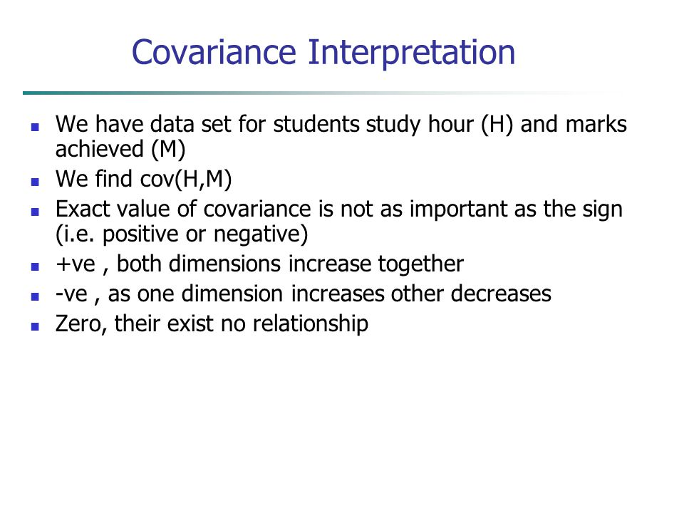 Covariance Interpretation