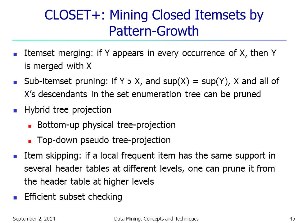 CLOSET+: Mining Closed Itemsets by Pattern-Growth