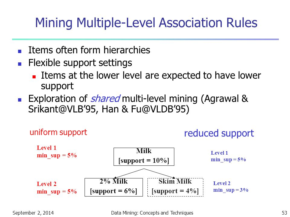 Mining Multiple-Level Association Rules
