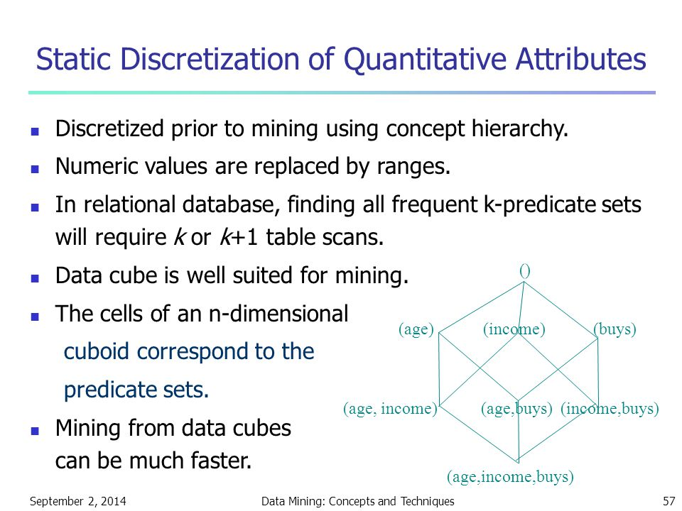 Static Discretization of Quantitative Attributes