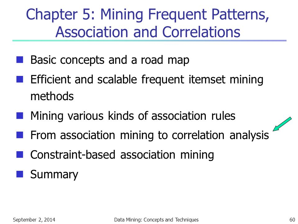 Chapter 5: Mining Frequent Patterns, Association and Correlations