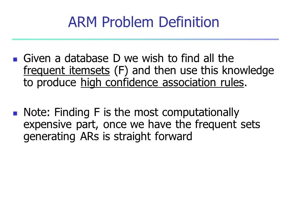 ARM Problem Definition