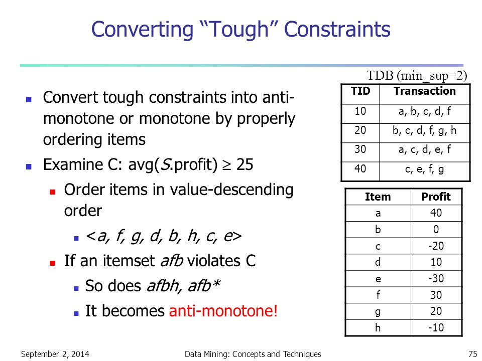Converting Tough Constraints
