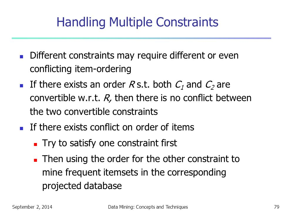 Handling Multiple Constraints
