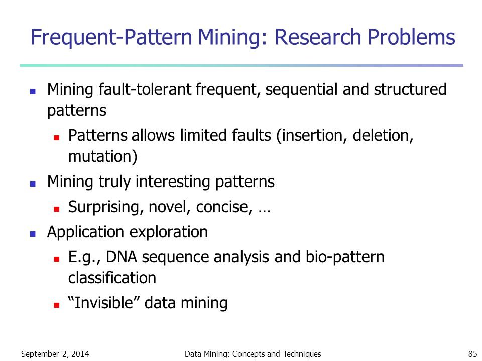 Frequent-Pattern Mining: Research Problems