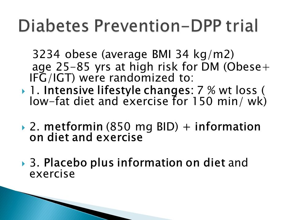 Diabetes Prevention-DPP trial